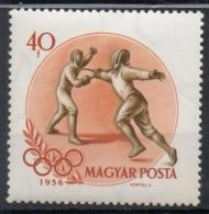 Ungheria Hungary 1956 -  Scherma Fencing MNH **