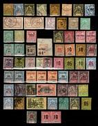 Colonies Françaises Belle Collection D'anciens 1885/1914. Nombreuses Bonnes Valeurs. B/TB. A Saisir!