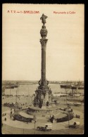 CPA ESPAGNE BARCELONA N°A.T.V.1 MONUMENTO A COLON ED ANGEL TOLDRA VIAZO BARCELONA - Barcelona