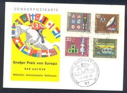 Germany Deutschland 1965 Card: Cavallo Horse Pferd Cheval: Equestrian; Grosser Preis Von Europa Bad Aachen EM