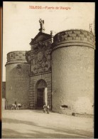 CPA ESPAGNE TOLEDO PUERTA DE VISAGRA ANIMEE 1911 FOTOTIPIA CASTANEIRA Y ALVAREZ MADRID - Toledo