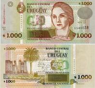 URUGUAY      1000 Pesos Urug.    P-91c      2011       UNC - Uruguay