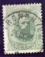 NORWAY 1878 King Oscar 1 Kr. Used.  Michel 32 - Norway