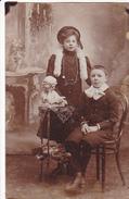 26027 Frere Soeur Enfant  -carte Photo - 1910 Belgique