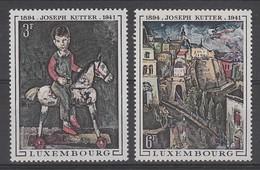 PAIRE NEUVE DU LUXEMBOURG - TABLEAUX DU PEINTRE JOSEPH KUTTER N° Y&T 741/742
