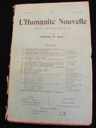 Revue Août 1898 L' Humanité Nouvelle N° 14 Revue Internationale Littéraire Politique Tendance Anarchiste -- GAR - Livres, BD, Revues