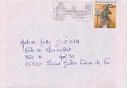 2,80f Plaisir D'écrire  1993  : De Yzeure à Saint Gilles Croix De Vie - Marcophilie (Lettres)