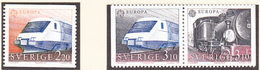 SUEDE 1988 - Trains -  Yvert 1477/1479 Neufs **