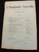 Revue Septembre 1898 L' Humanité Nouvelle N° 15 Revue Internationale Littéraire Politique Tendance Anarchiste -- GAR - Livres, BD, Revues