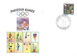 24-3-2004 PAKISTAN VS INDIA FIFTH ODI , CRICKET, OLYMPIC, HOCKEY, FOOT BALL, GOLF, WEIGHT LIFTING , TENNIS POSTMARK.