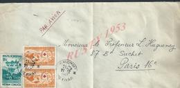 LETTRE DU VIETNAM DU SUD TB CROIX ROUGE & RURALE OB SAIGON 1963 POUR PARIS :