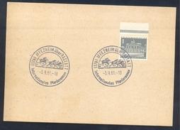 Germany Deutschland 1961 Card: Cavallo Horse Pferd Cheval: Equestrian; International Horce Races Iffezheim