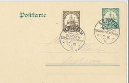 Seeheim Mit Zusatzfrankatur 10.10.10 - Colony: German South West Africa