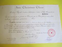 Diplôme/Commandeur/Ordre De L'Etoile De L'Eau/Franc Maçonnerie ?/Clerc D'AGEN /PUJOS/Orateur-Ichtyologue//1910    DIP211 - Diplomi E Pagelle