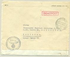Nederland - 1944 - Herbruikte Brief Durch Deutsche Dienstpost Niederlande Van Den Haag Naar Schiedam