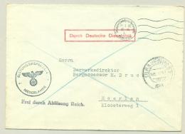 Nederland - 1941 - Brief Durch Deutsche Dienstpost Niederlande Van Den Haag Naar Heerlen