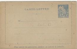 Colonie General, 15 C. CARTE-LETTRE, KB 3, Lochung D,  D 256