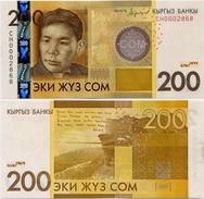 KYRGYZSTAN       200 Som       P-New       2016       UNC - Kirghizistan