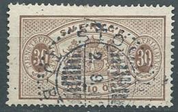 Suede  Service   Yvert N° 9 A   Oblitéré ( Dent 13 )   -  Cw23507