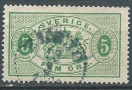 Suede  Service  Yvert N°  3 A   Oblitéré    -  Cw23513