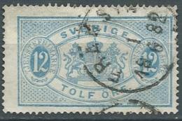 Suede   Service   Yvert N° 6 B  Oblitéré   (dent 14 ) -  Cw23518