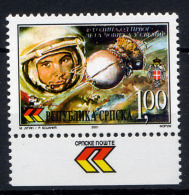 BOSNIE SERBE BOSNIA SERBIA SRPSKA 2001, ESPACE, GAGARINE, 1 Valeur, Neuf / Mint. R1674