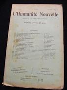 Revue Août 1899 L' Humanité Nouvelle N° 26 Revue Internationale Littéraire Politique Tendance Anarchiste -- GAR - Livres, BD, Revues