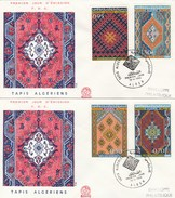 Algérie FDC 1968 - Yvert Série 463 à 466 Tapis - Illustration 1 - Algérie (1962-...)