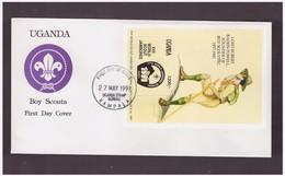 UGANDA - 27 5 1991 FDC SCOUT