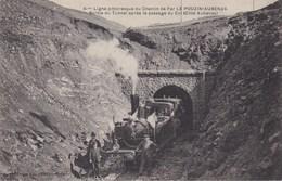 07 Ligne Pittoresque Du Chemin De Fer LE POUZIN - AUBENAS - Sortie Du Tunnel Après Le Passage Du Col ( Coté Aubenas ) - Aubenas