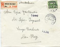 E575 Einschr. Brief Niedelande St. Nieuw Helvoet N. Den Haag