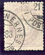 NORWAY 1877 Posthorn 25 Øre Used.  Michel 28 - Norway