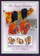 MINT NH S/S OF THE ROYAL WEDDING  PRINCE EDWARD & SOPHIE (  GAMBIA  2105