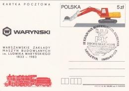 Poland Postal Stationary 1983 Escavator Used 1985 (T8A13)