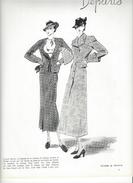 Pub 1936 Dessins De Mode ,Reboux,Rochas,Anny Blatt,Pasquin Etc ... - Publicité