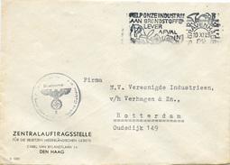 E576 Brief Niederlande St. AFS Gravenhage N. Rotterdam Zentralauftragsstelle Für Die Besetzten Niederländischen Gebiete