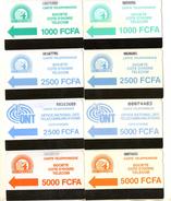 TELECARTES COTE D´IVOIRE  *1000  *2500  *5000 FCFA   (lot De 8) - Ivory Coast