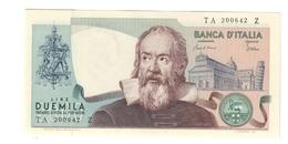 2000 Lire Galilei Curiosità Azzurrino 1983 Fds LOTTO 1609 - [ 2] 1946-… : Républic