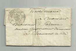 Lettre Du 13 Janvier 1833 Cachet  Bourmont  (Haute-Marne)                     La18 - 1801-1848: Precursori XIX