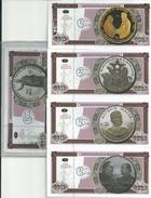 5 BILLETES - IMPRESIONES DE SEGURIDAD - PERSONAJES HISTORICOS - BASADA EN MONEDAS COLECCIONABLES - 2011 - Cuba