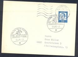 Germany Deutschland 1963 Card: Cavallo Horse Pferd Cheval: Equestrian; Deutsches Spring Dressur Fahr Derby