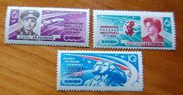 Russia USSR 1963 Space Vostok 5, 6, Bikovsky, Tereshkova,   Set Mnh
