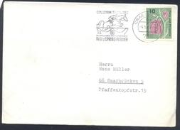 Germany Deutschland 1963 Cover: Cavallo Horse Pferd Cheval: Equestrian; Reit Und Spring Turnier Crailsheim
