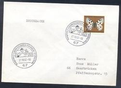 Germany Deutschland 1962 Cover: Cavallo Horse Pferd Cheval: Equestrian; Einweihung Reiter Stadion Ludwigshafen Butterfly