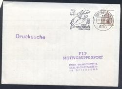 Germany Deutschland 1967 Cover: Cavallo Horse Pferd Cheval: Equestrian; Reit Und Sping Turnier Iserčohn Slogan Can