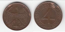 **** ALLEMAGNE - GERMANY - 4 REICHSPFENNIG 1932 A - WEIMAR REPUBLIC **** EN ACHAT IMMEDIAT - [ 3] 1918-1933 : Weimar Republic