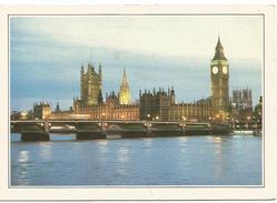 T2901 Gran Bretagna - Il Ponte Di Westminster - Victoria Tower - Big Ben - Cartolina Con Legenda Descrittiva - Europe