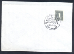 Germany Deutschland 1962 Cover: Cavallo Horse Pferd Cheval: Equestrian; Wiesenmarkt Erbach Jockey Galopp Race