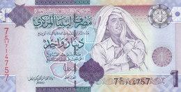 LIBYA 1 DINAR 2009 P-71 SIG/7 Bengadara UNC */* - Libya