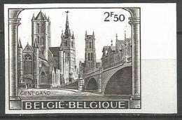 Belgique - R065 - N° 1594 - Non Dentelé - Gand - Eglise St Nicolas - Beffroi - Cathédrale St Bavon - Imperforates